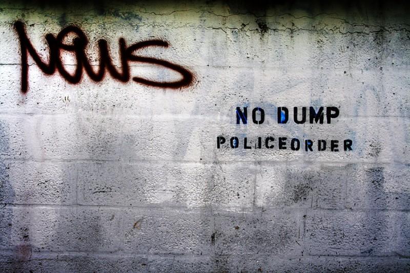 News - No Dump Police Order