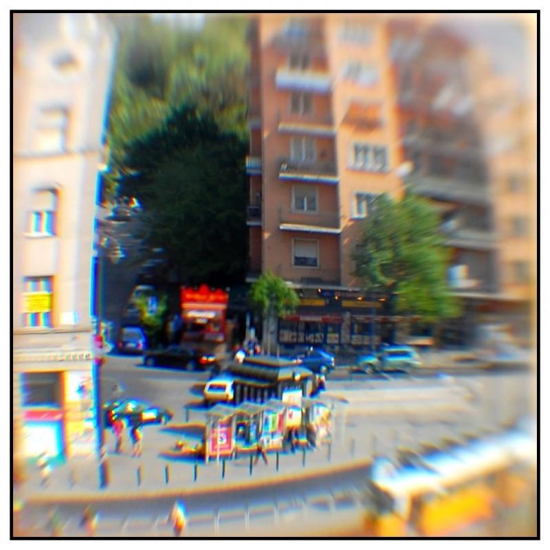 Budapest city street tram város window
