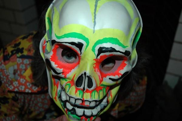creepy skull Halloween mask , circa 1960s or 1970s