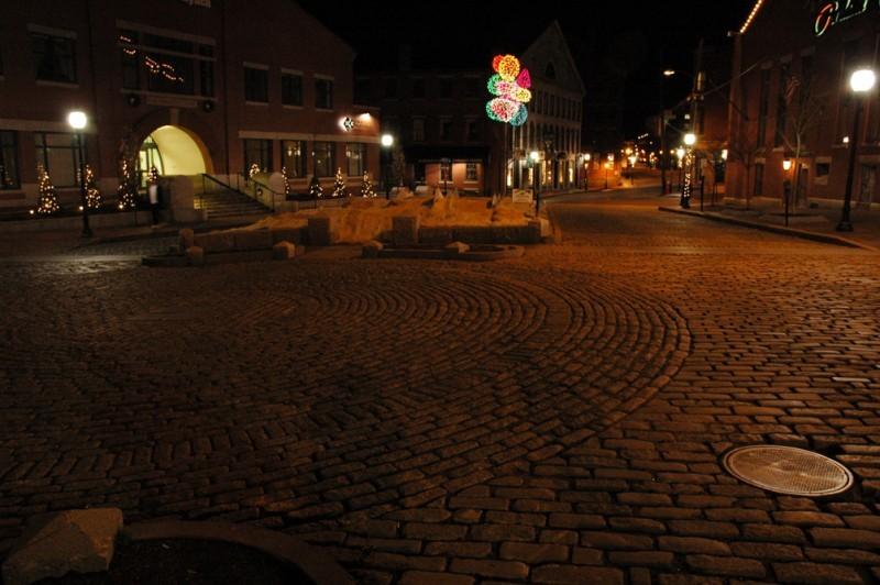 Cobblestone Street in the Old Port, Portland, ME
