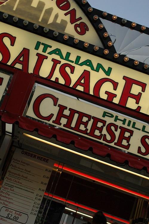 Italian sausage stand at Cumberland Fair 2006
