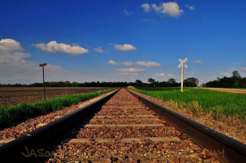 Tracks, Sky, Clouds