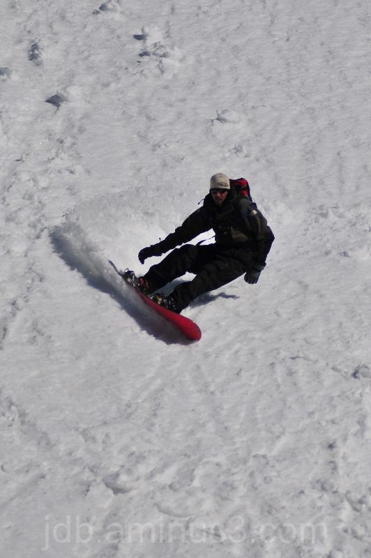Snowboarder on Beartooth Pass