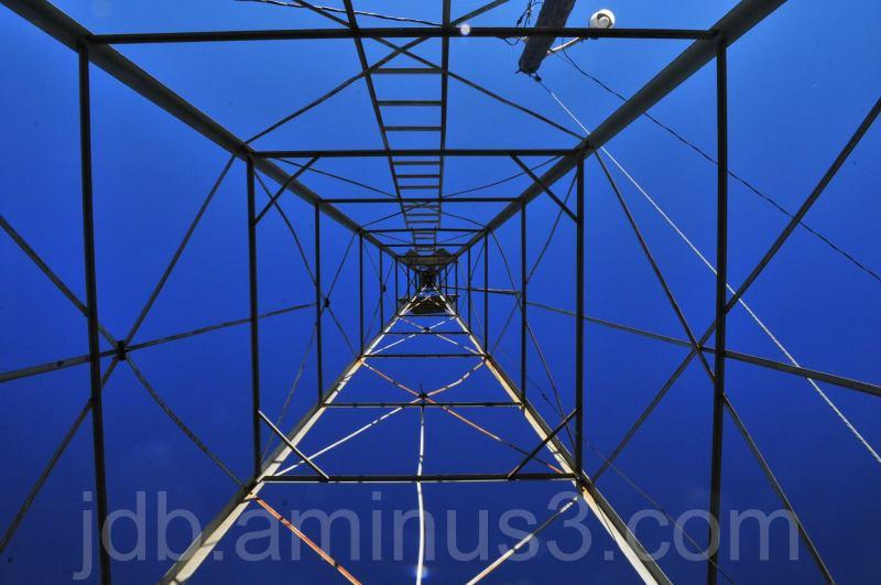 Inside the wind vane tower