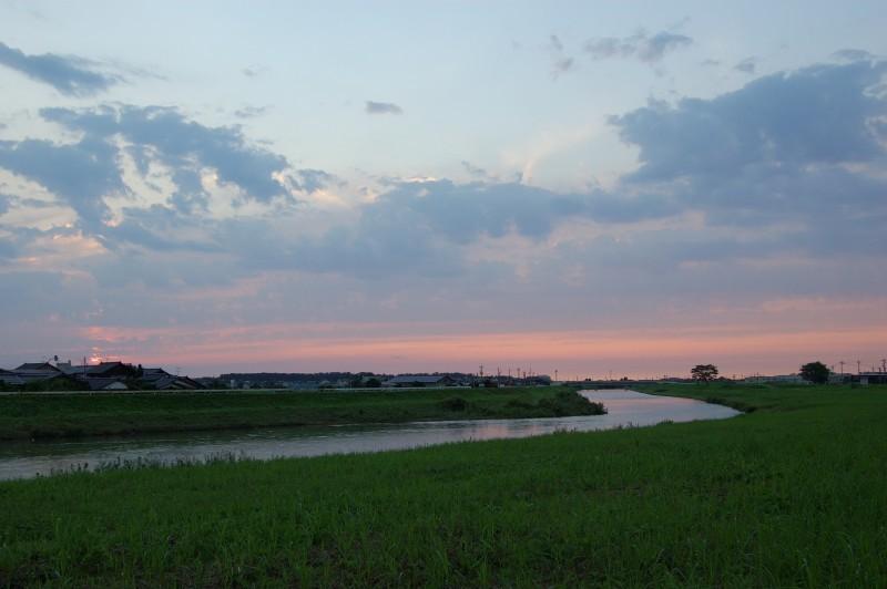 Sunset on the Saigawa