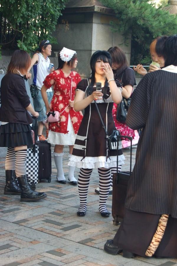 Tokyo Goths at Harajuku Station.
