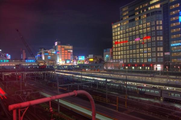 An HDR of Shinjuku station, Tokyo.