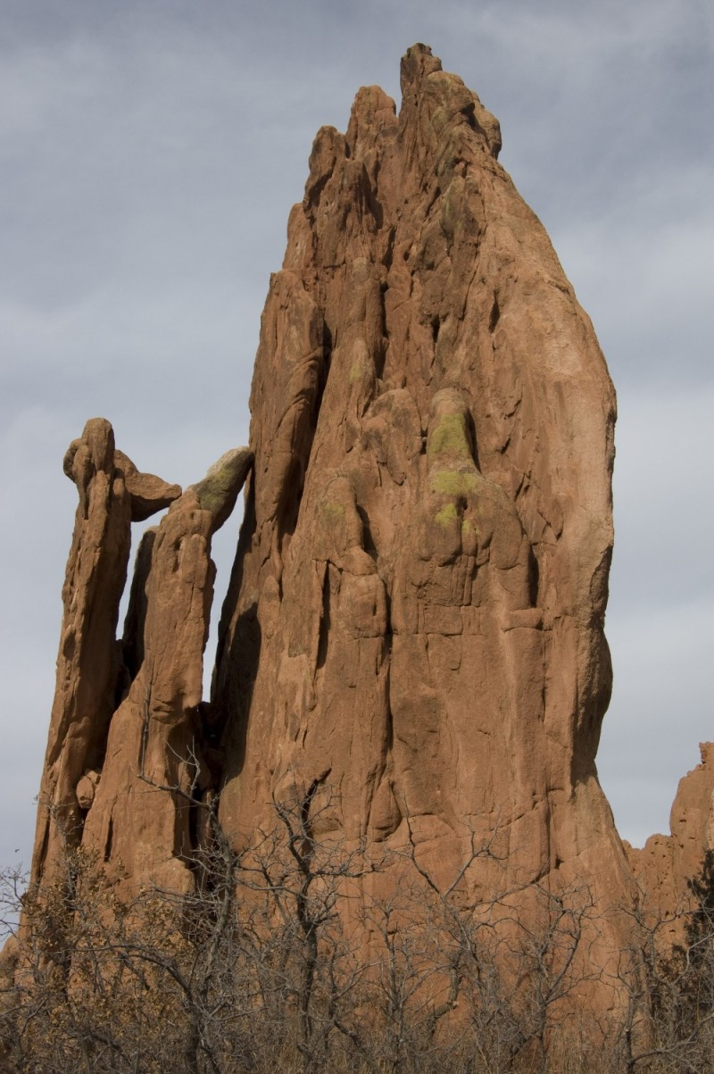 A hogback rock formation in the Garden of the Gods