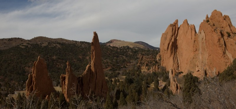 A panorama of the Garden of the Gods