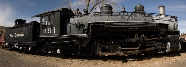 A panorama from the Colorado Railroad Museum