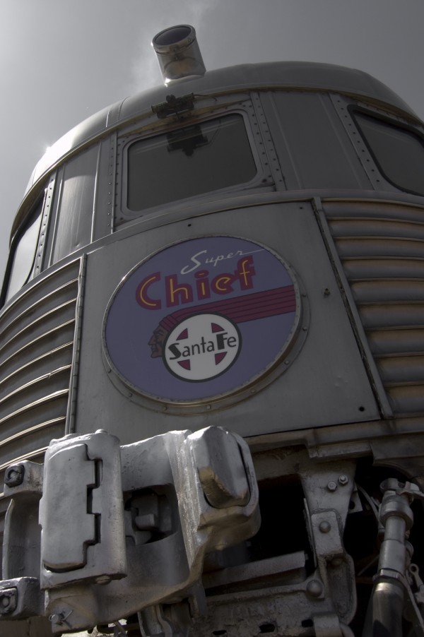 santa fe super chief car at the Railroad Museum