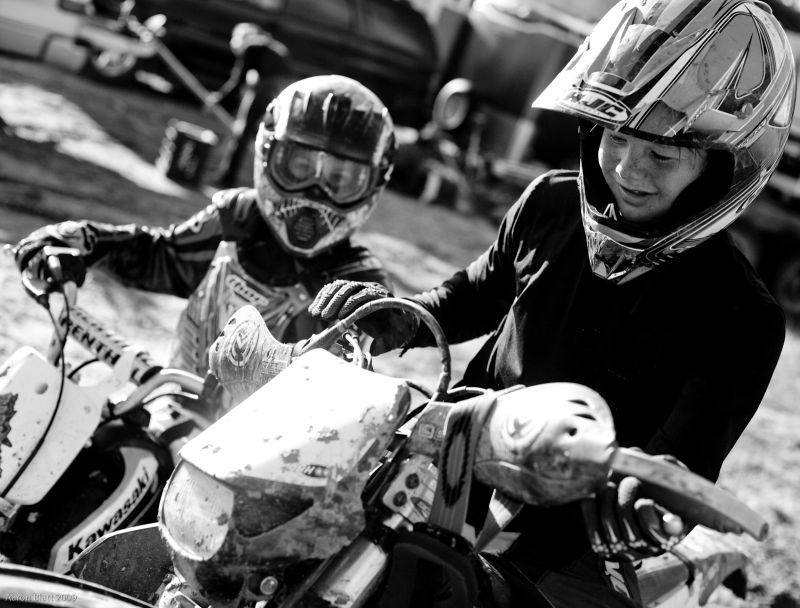Tyler and Keegan at the Richmond MX track, VT