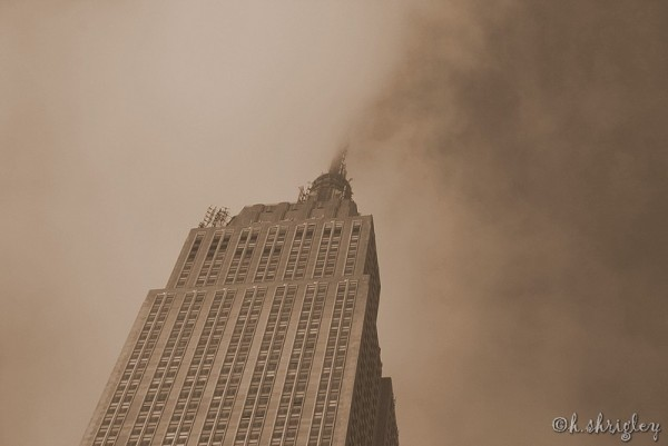 Empire State Building in Sepia