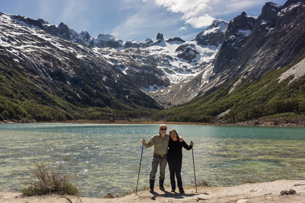 Trekking to Esmeralda lagoon. Tierra del Fuego