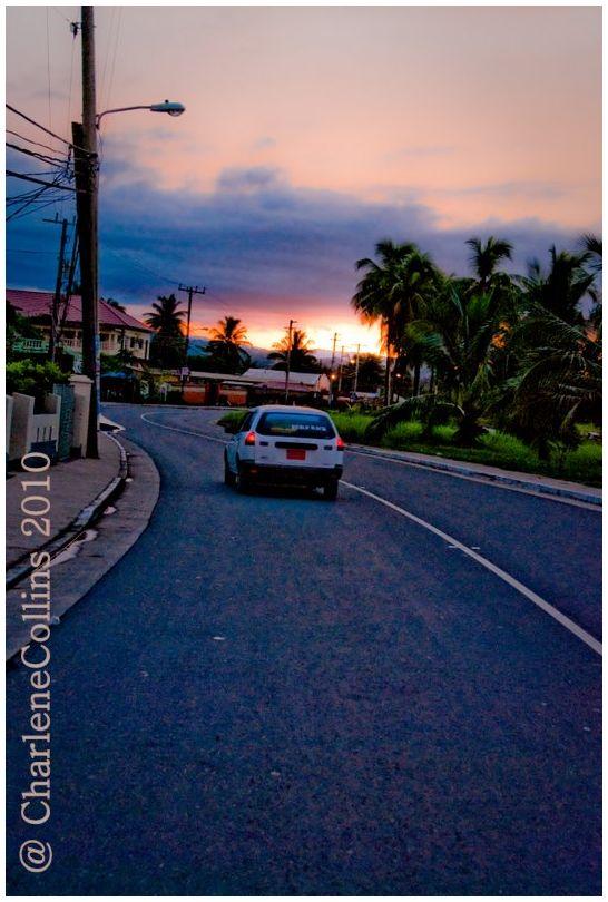 St Mary Jamaica Annotto Bay dusk