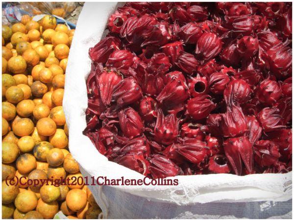 Food local organic Jamaica sorrel oranges