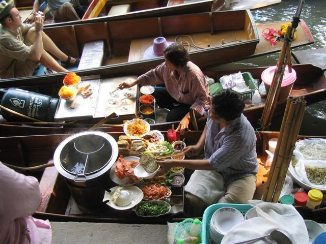 Lunch is served on the Floating Market 3 of 3