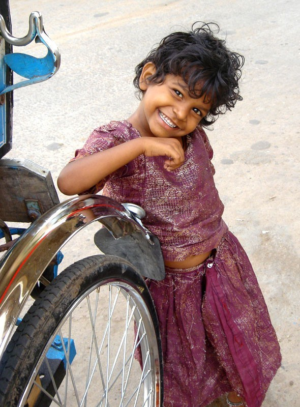 a smilling girl from Madurai