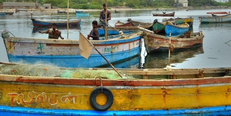 young fishermen, India