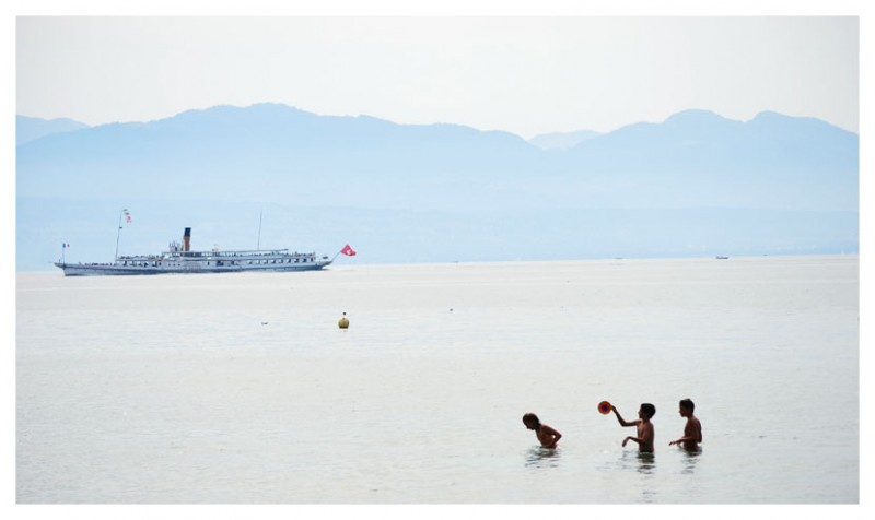 boat on the Geneva lake