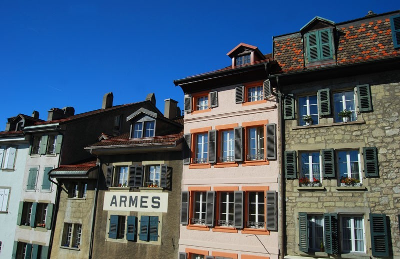 houses, lausanne, switzerland