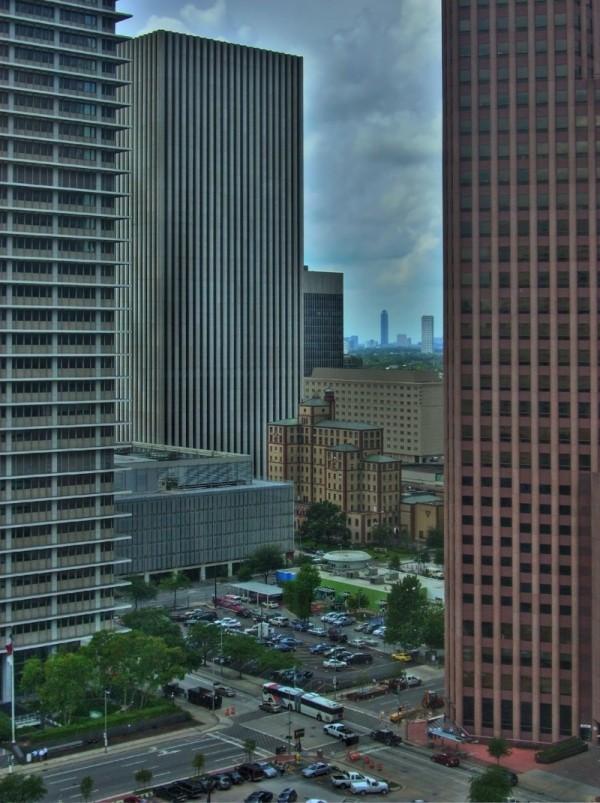 Houston Skyline from Travis Tower