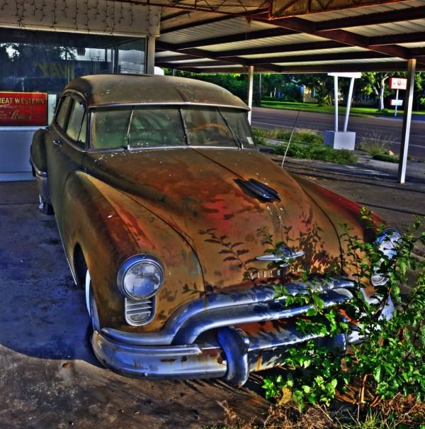 Old car, Cuero, Texas