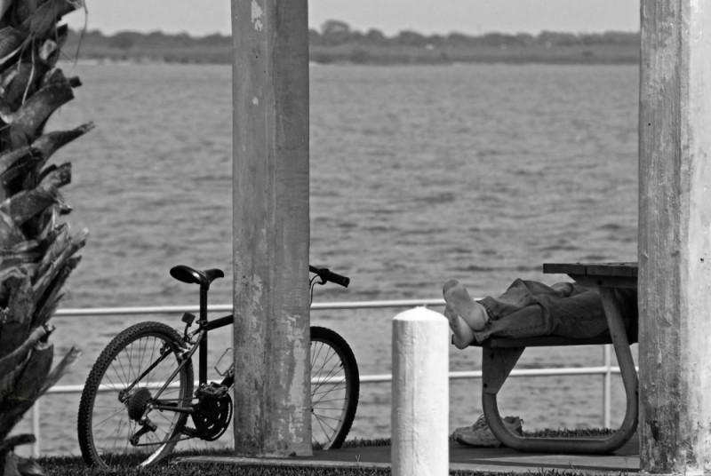 Taking a nap by the bay, Palacious, TX
