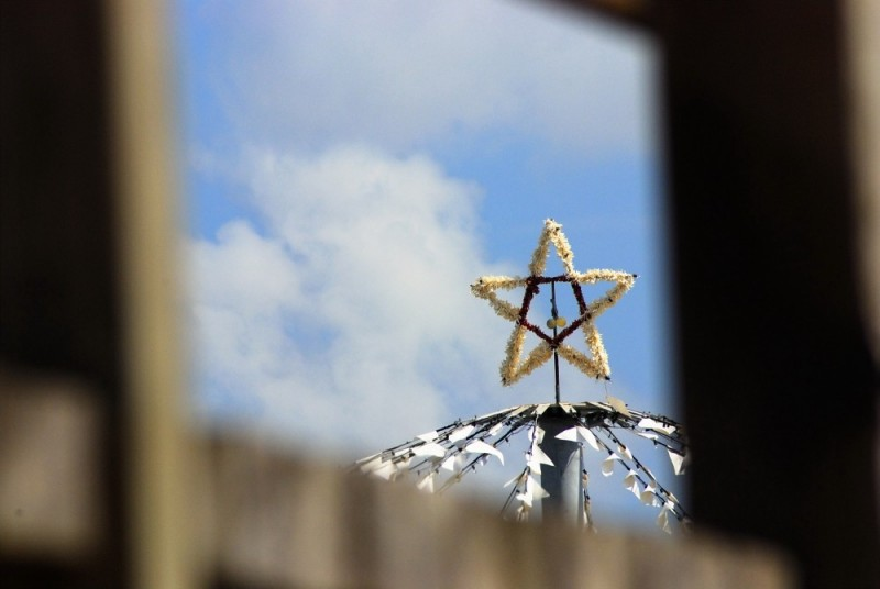 Star atop the pier pavillion, Palacious, Texas