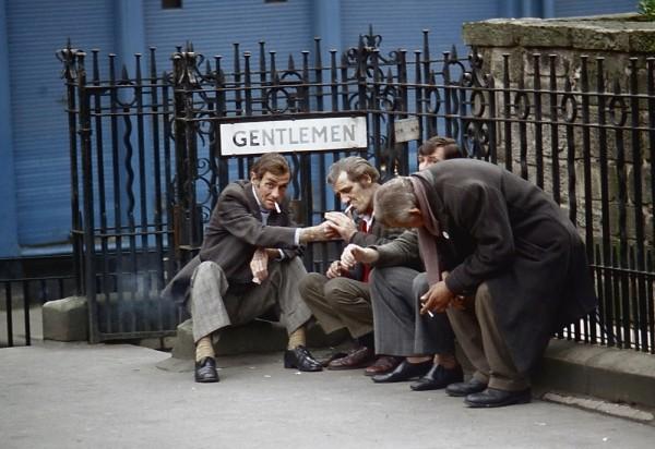 Gentlemen having a smoke, London, England