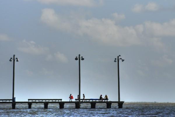 Pier, people, Palacious, Texas