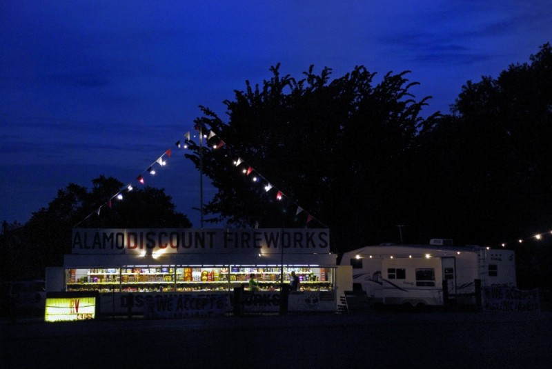 Getting fireworks stand ready for business
