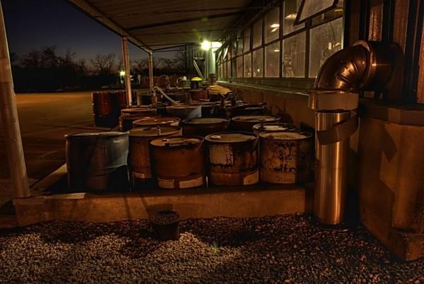 Oil drum storage