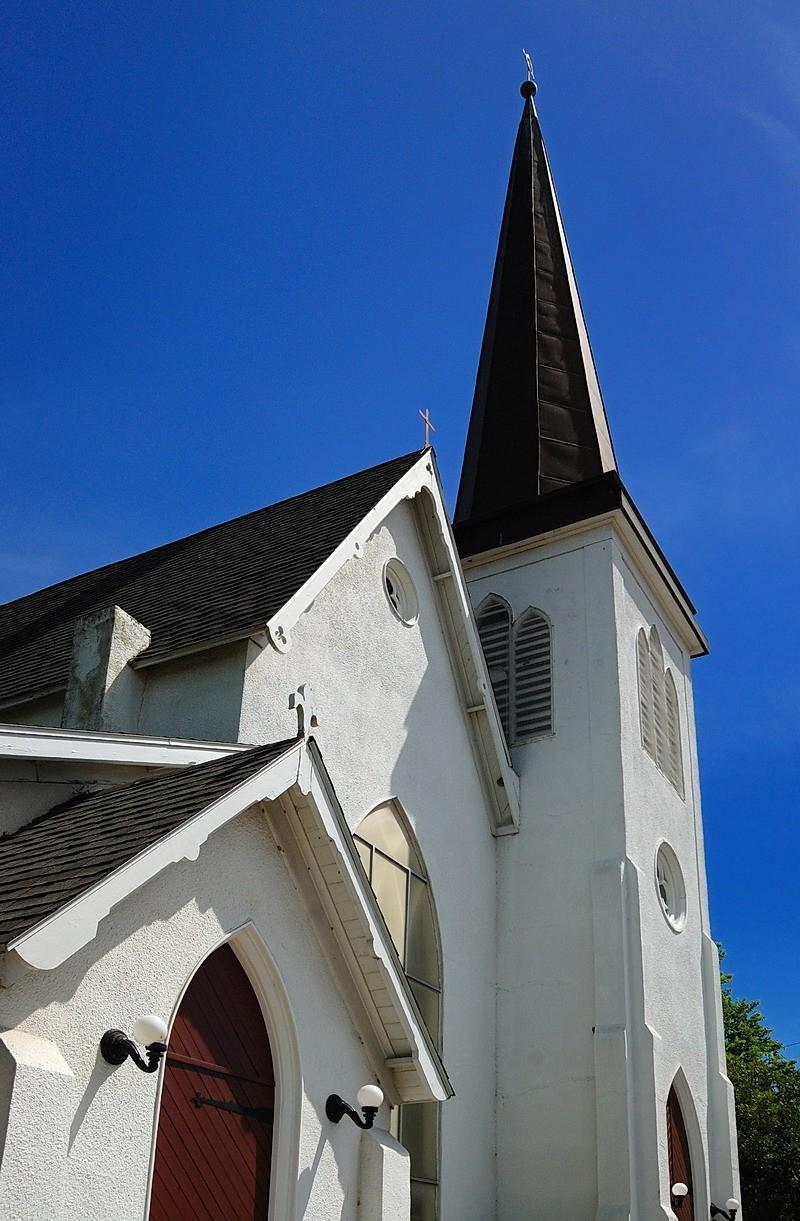 Church spire, Cuero, Texas