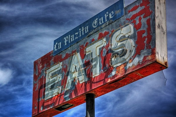 Eats sign, Cuero, Texas