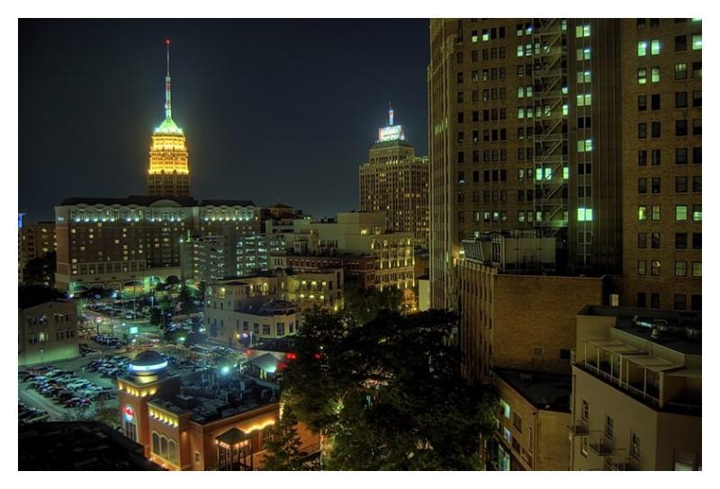 San Antonio at night from Hyatt hotel
