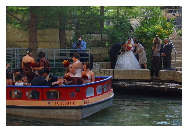 Riverwalk wedding, San Antonio