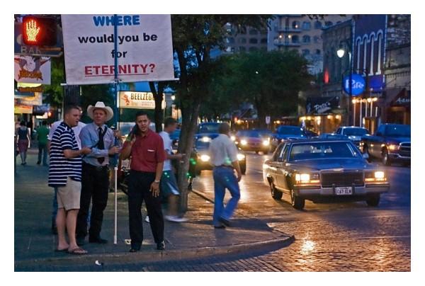 Beelzebub street vendor, 6th street, Austin