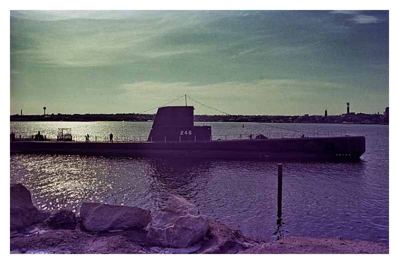 Submarine Leaving Port, New London