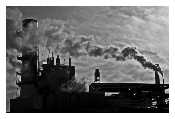 Power plant in the early morning