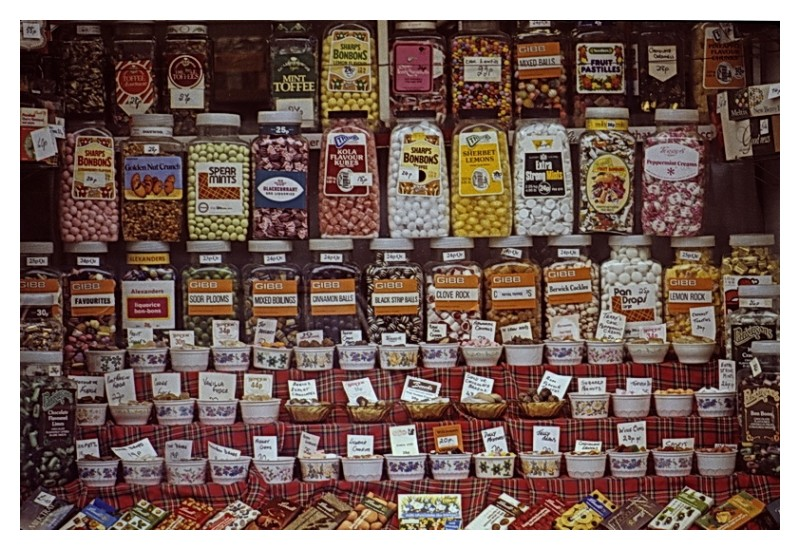 Candy store window, Holy Loch, Scotland