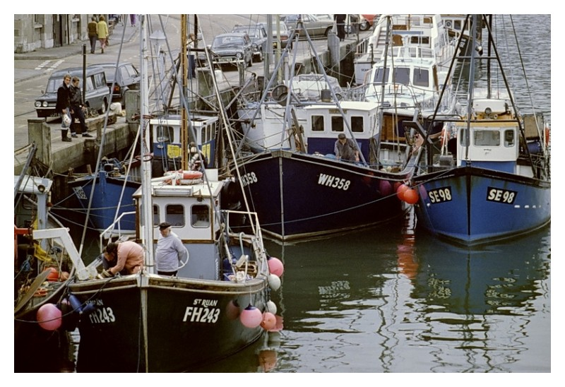Fishing boats somewhere in the UK