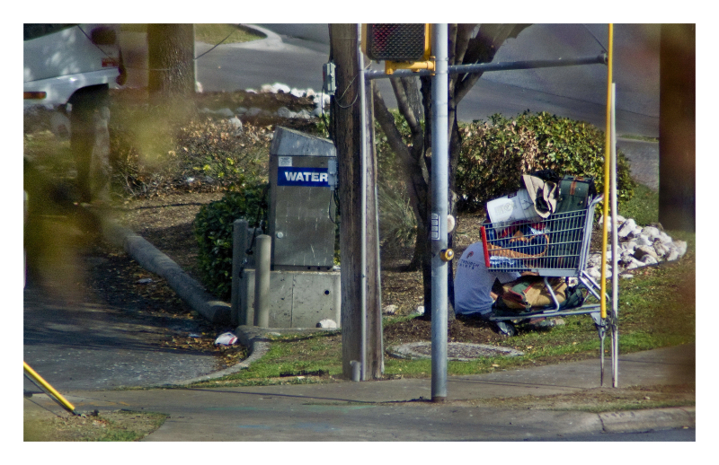 Shopping cart of the corner