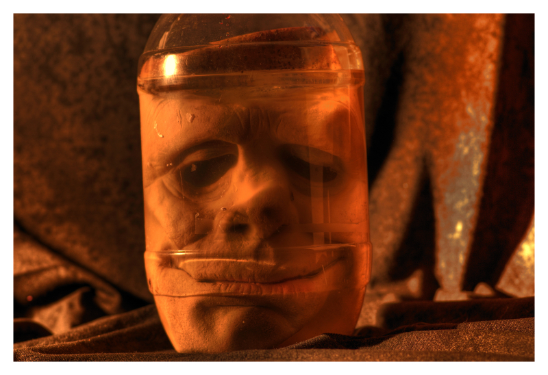 Face in a jar