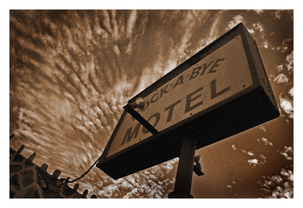 Rock A Bye Motel Sign