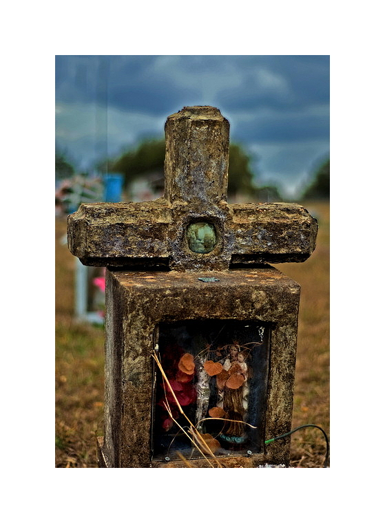 Reliquary, Guadalupe Cemetery, Mission Valley, TX