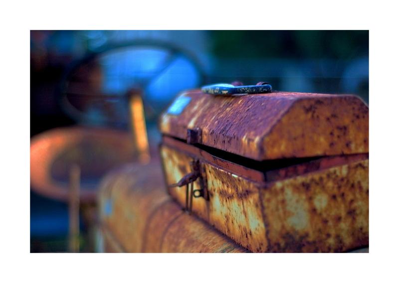 Old tractor, Yorktown, Texas