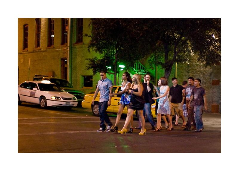 Austin Nightscapes: Crosswalk