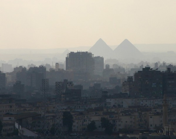 Egypt. Cairo. Pyramids from the Citadel