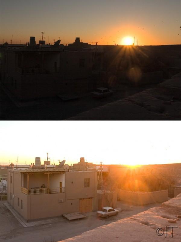 Uzbekistan. Khiva. Sunset.